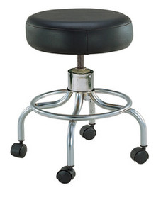 Drive Revolving Adjustable Height Stool with Round Footrest