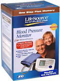 LifeSource One Step Plus Memory Blood Pressure Kit Sm Cuff UA-767PVS