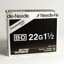 BD Needle Only 22 Gauge 1.5 inch 100/box (305156) (10020481)