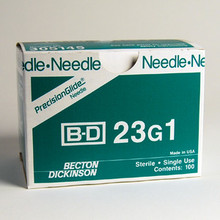 BD Needle Only 23 Gauge 1 inch 100/box (305145)