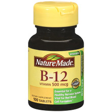 Nature Made Vitamin B12 500 mcg Tablets 100 ct