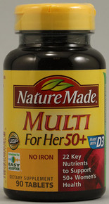 Nature Made Multi For Her Tablets 50+ 90ct
