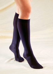 TRUFORM 1973: Ladies 10-20 Knee High Support Socks Trouser Style