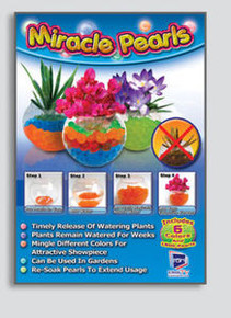 Miracle Pearls watering plants for weeks showpiece