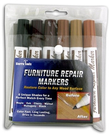S/6 FURNITURE REPAIR MARKERS paint color wood surface