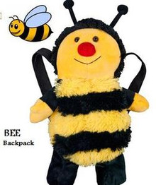 Bee Plush Animal kids Backpack