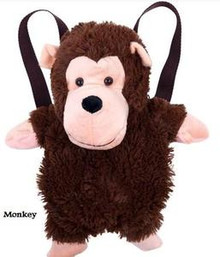 Monkey Plush Animal kids Backpack