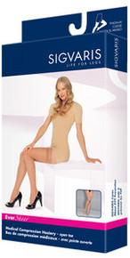Sigvaris 780 EverSheer 15-20 mmHg Women's OPEN Toe Thigh Highs - 781N