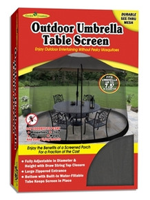 7.5' Umbrella Table Screen - Black