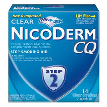 NicoDerm CQ Smoking Cessation Aid, Clear Patch, Step 2 - 14 ea