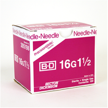 BD Disposable Needle Only 16 Gauge 1 1/2 inch 100/box (305198)