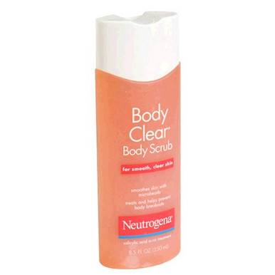 Neutrogena Body Clear Body Clear Body Scrub, Salicylic Acid Acne Treatment  - 8.5oz