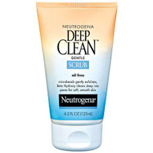 Neutrogena Deep Clean Gentle Facial Scrub, Oil Free - 4.2 Oz