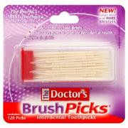 Doctors Brushpicks Dental Toothpicks - 120 Each - 5 Pack