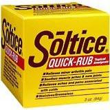Soltice Quick Rub 3oz : 12 packs