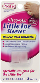 Pedifix Visco-Gel Little Toe Sleeves- 2 Per Pack