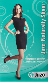 Juzo 2100 Naturally Sheer Compression Knee Highs 15-20 mmHg Open Toe