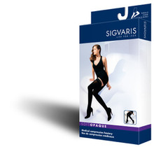 Sigvaris 841N Soft Opaque 15-20 Compression Open Toe Thigh High