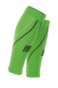CEP Neon Green Orange Night Compression All Sports Calf Sleeve for Men Running
