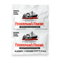 Fisherman's Friend Menthol Cough Suppressant Lozenges, Original Extra Strong  40 ea CASE OF 12
