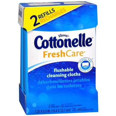 COTTONELLE FLUSHABLE COTH REFILL 8X84CT