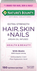 Nature's Bounty Optimal Solutions Hair, Skin & Nails Extra Strength, 150 Softgel