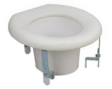 "Universal Plastic Raised Toilet Seat Riser - adjusts from 3"" to 6"""