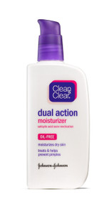 Clean & Clear ESSENTIALS Dual Action Moisturizer 4 Oz Treats & Prevents Pimples
