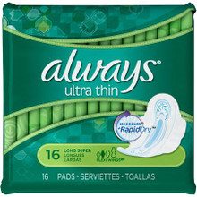 Always Infinity Heavy Flow Pads with Revolutionary Wings - 16 Pads
