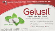 Gelusil antacid anti-gas tablets, peppermint flavor - 100 each
