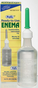 Watson Rugby Enema Disposable Saline Laxatives - 4.5 oz