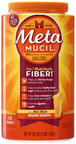Metamucil MultiHealth Fiber Supplement Powder, Smooth Orange - 48.2 oz
