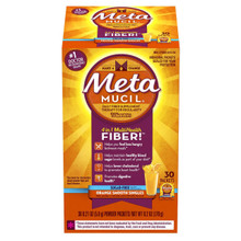 Metamucil Orange Multi Health Fiber, Orange Smooth, Sugar Free - 30 packets