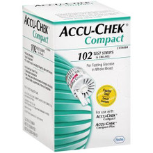Accu-Chek Compact Drums 3 Drums pre-loaded 17 test strips Per Each Drum(Total: 51 Strips)