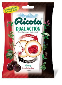 Ricola Bag Dual Action Cherry 19ct