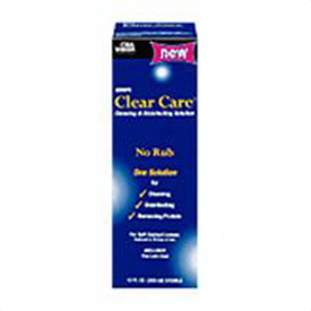how to use clear care contact solution