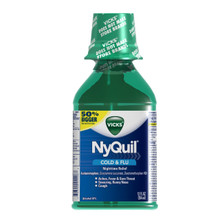 Vicks NyQuil Cold & Flu Nighttime Relief Original Flavor Liquid 12 fl oz