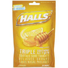 HALLS BAG HONEY LEMON 30CT