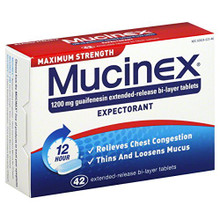 MUCINEX MAX STRENGTH TABLET 42CT