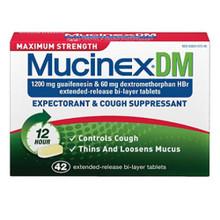 MUCINEX DM MAX STRENGTH TABLET 42CT