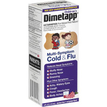 Dimetapp Children's Multi-Symptom Cold Flu Liquid Red Grape- 4oz