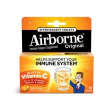 Airborne Zesty Orange Effervescent Tablets 10 count 1000mg of Vitamin C