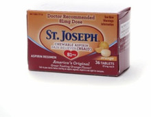 St. Joseph Chewable 81mg Low Dose aspirin 36 counts