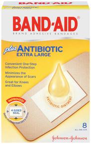 Jj Bandaid Antibiotic Xlarge 8ct