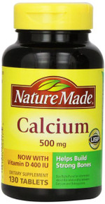 Calcium 500mg Tablet 130ct Nat Made