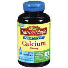 Nature Made Calcium 600mg with Vitamin D 100 Softgels