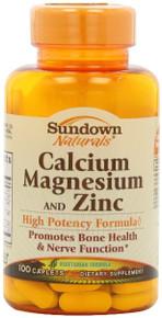 Calcium/mag/zinc Caplet 100ct Sundwn