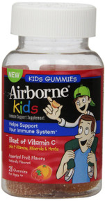 Airborne Kids Gummies Vitamin 667mg Immune Support Supplement Assorted Fruit 21