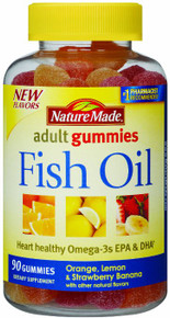 Fish Oil 222mg Gummie 90ct Nat Made