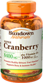 Sundown Cranberry 8400mg +d3 Softgel 150ct